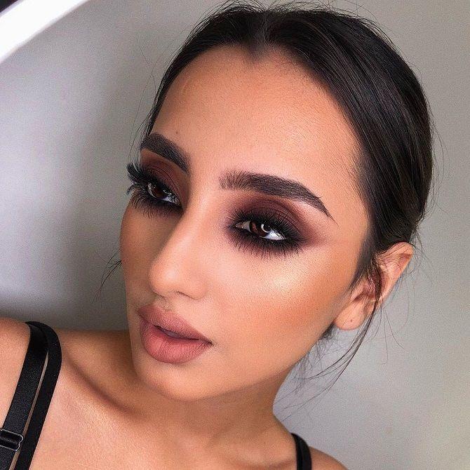 новогодний макияж 2020 для карих глаз