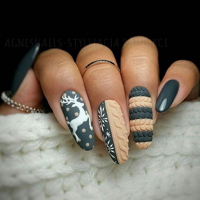 вязаные ногти