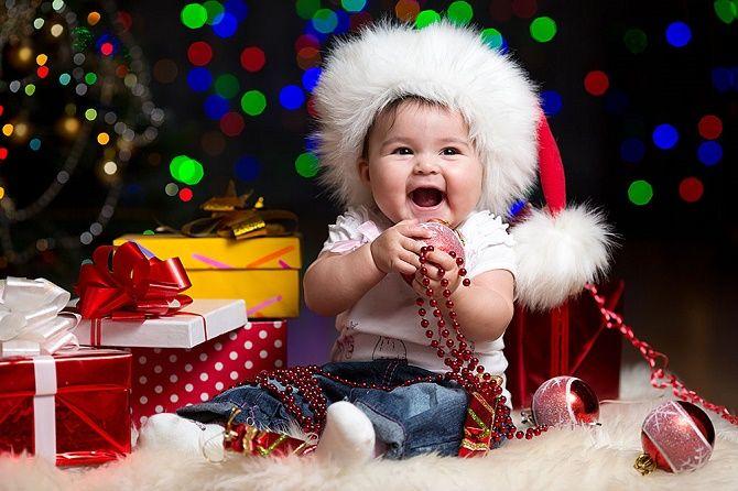 новогодняя фотосессия новорожденных