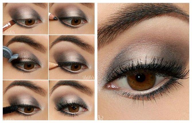 новогодний макияж для карих глаз своими руками