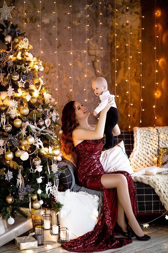 новогодняя фотосессия мама с сыном