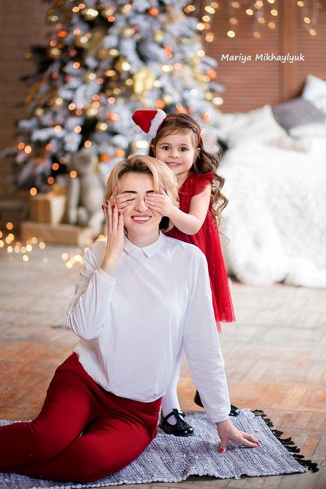 образи для новорічної фотосесії мама і дочка