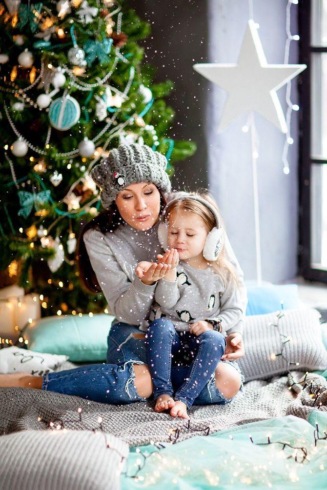 образы для новогодней фотосессии 2020 мама и дочка