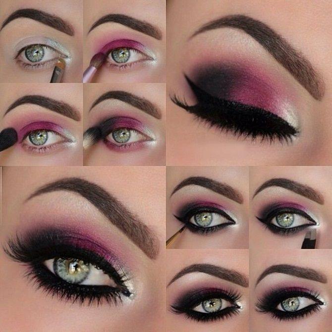 макияж на новый год на зеленые глаза пошагово