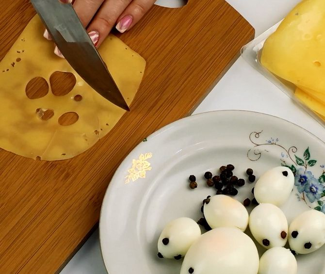 Салат Мышки на сыре
