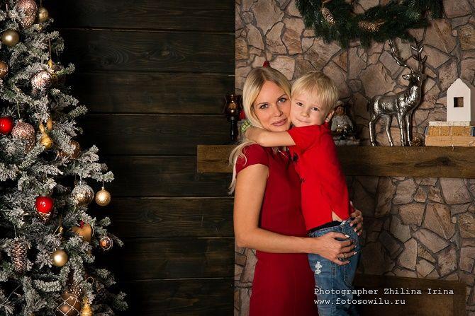 образи для новорічної фотосесії мама та син