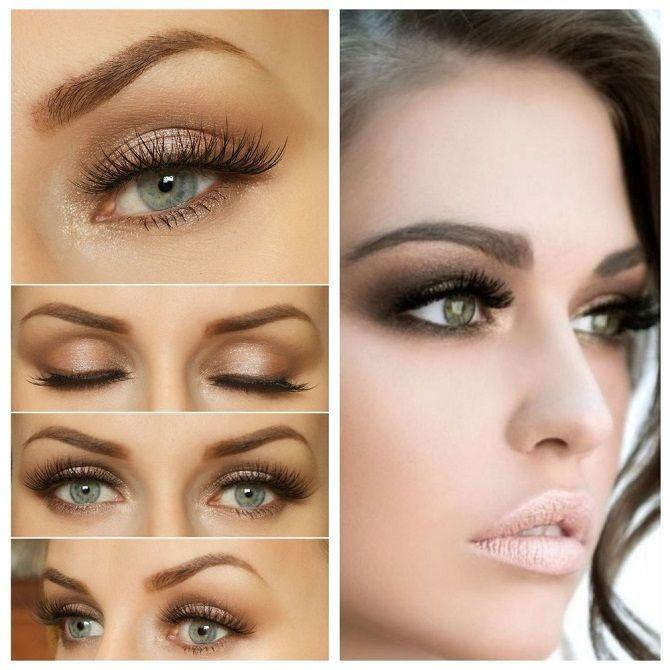 красивый новогодний макияж на зеленые глаза