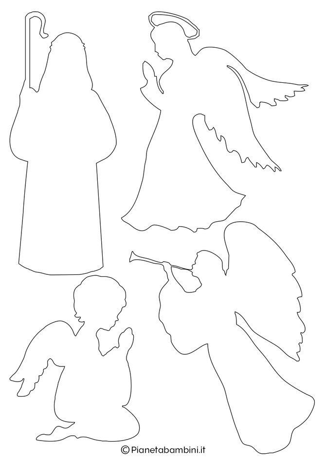рождественский вертеп шаблоны ангелы