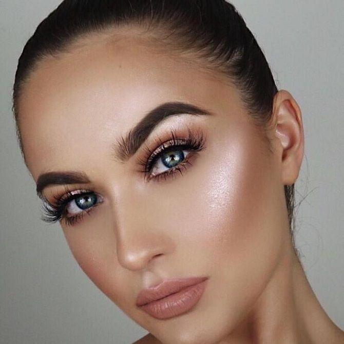 новогодний макияж зеленые глаза