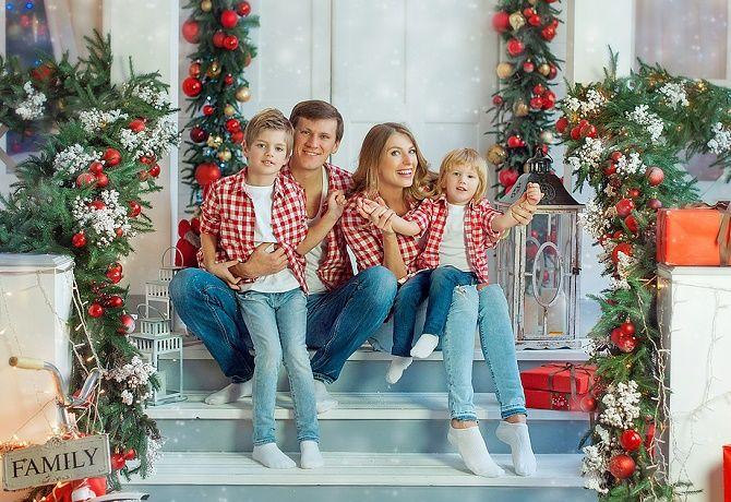 семейная фотосессия на новый год 2020