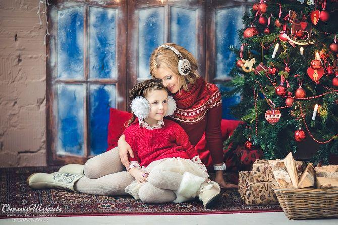 образи для новорічної фотосесії мама і діти