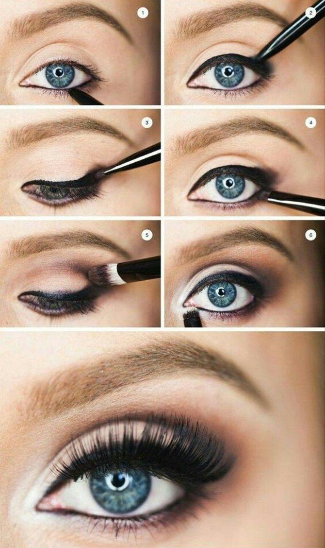 новогодний макияж для серых глаз пошагово