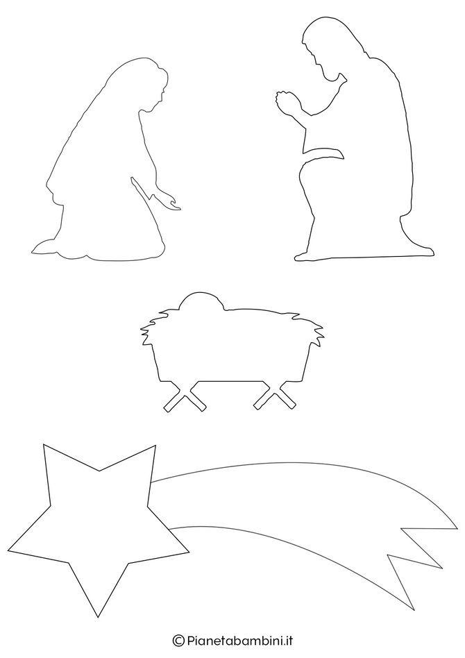 рождественский вертеп из бумаги