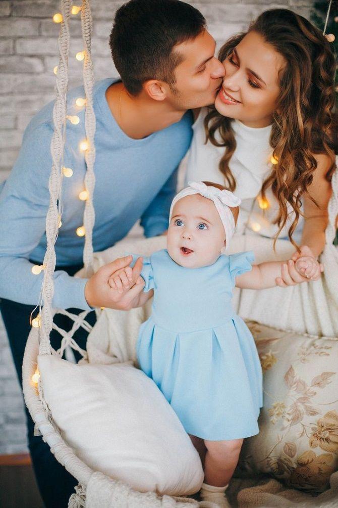 фотосессия семья на новый год