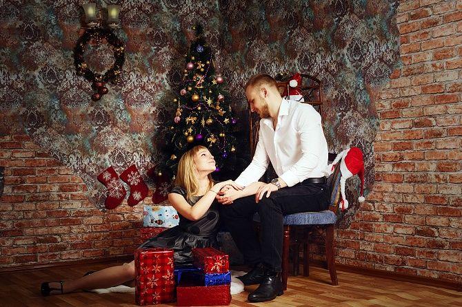 образы для новогодней фотосессиивлюбленные