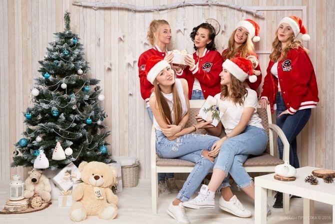 образы для новогодней фотосессии с подругами