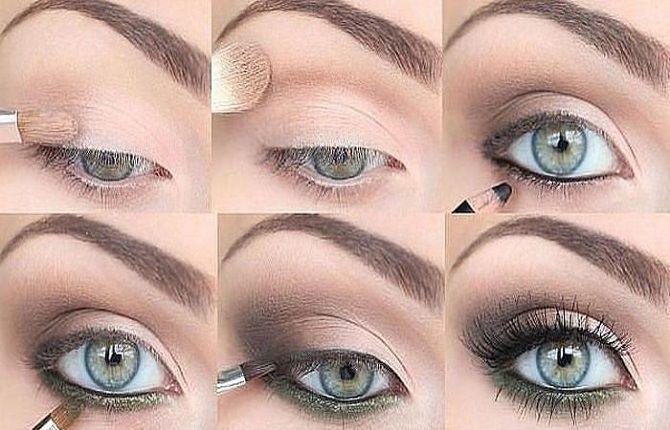 макияж голубые глаза на новый год