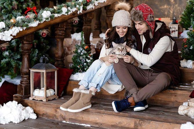 образы для новогодней фотосессии для пары