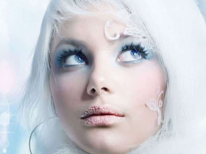 макияж снегурочки