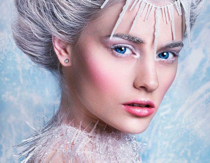 макіяж снігуронька на новий рік