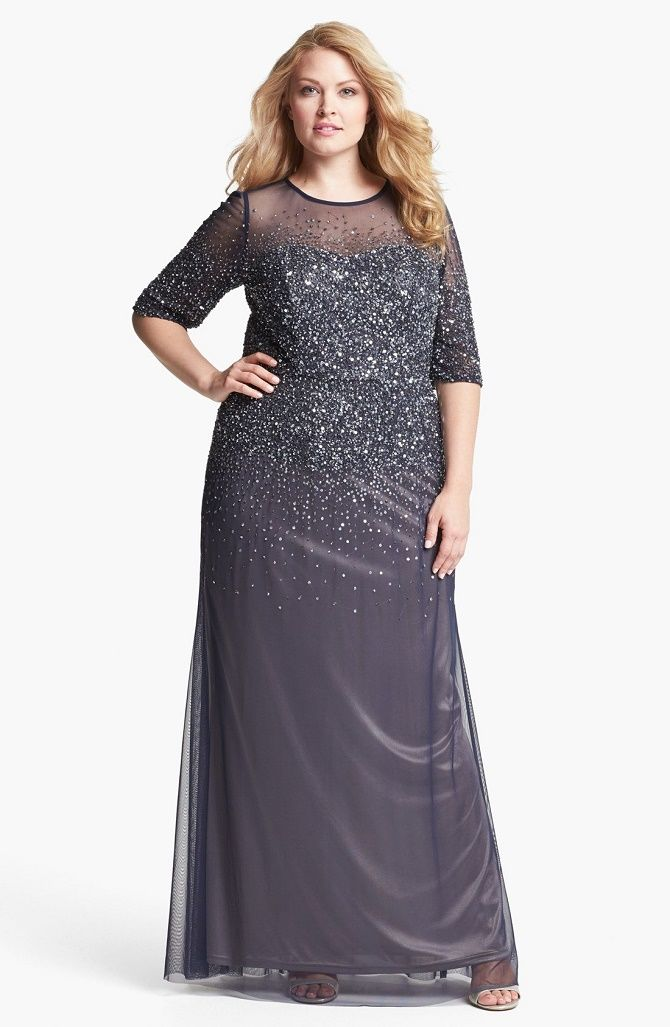 платье на новогодний корпоратив для полных