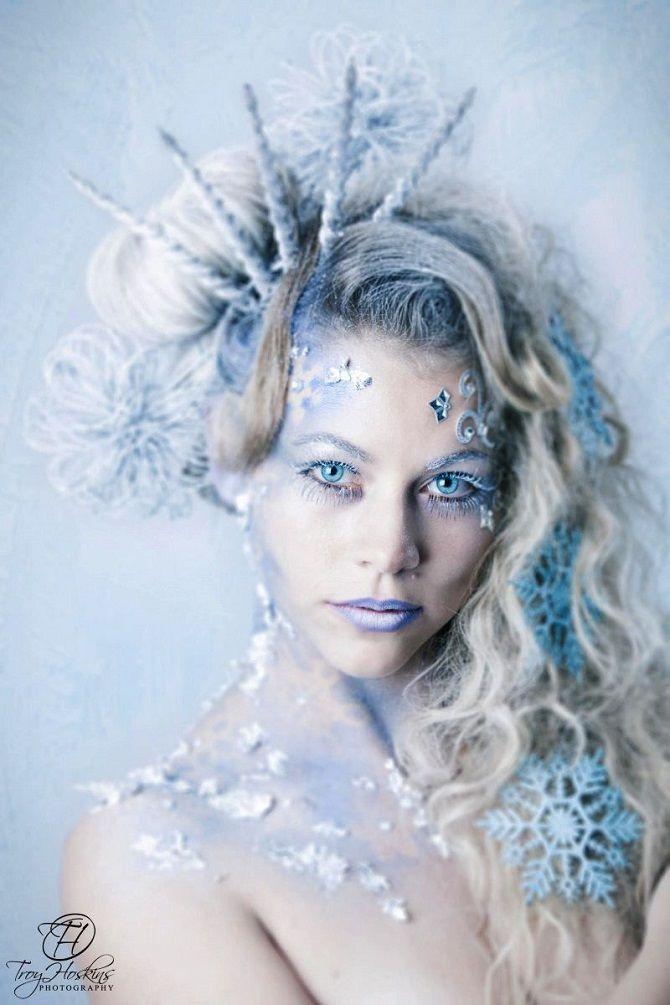 новогодний макияж снежная королева