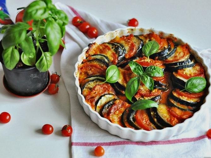 вегетарианские блюда на Новый год 2020 рататуй