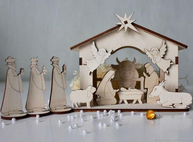 вертеп рождественский +своими руками шаблоны