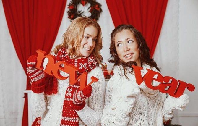 образи для новорічної фотосесії з атриьутикою
