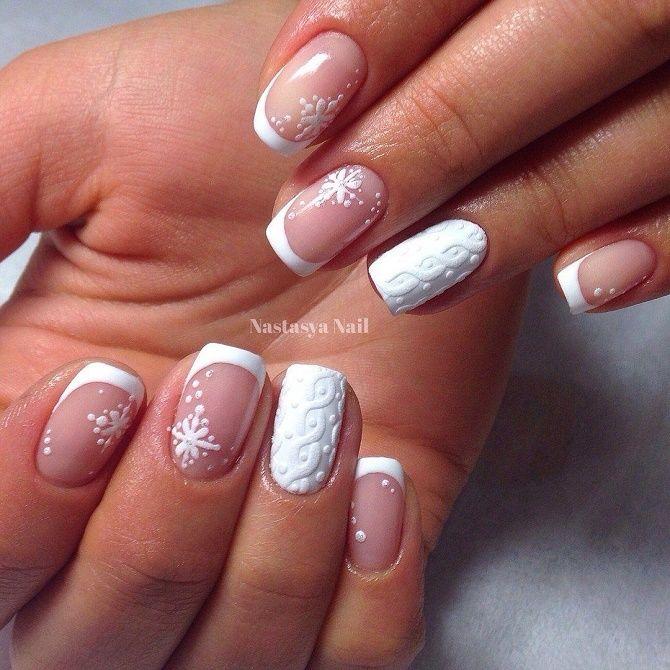 дизайн ногтей вязаный
