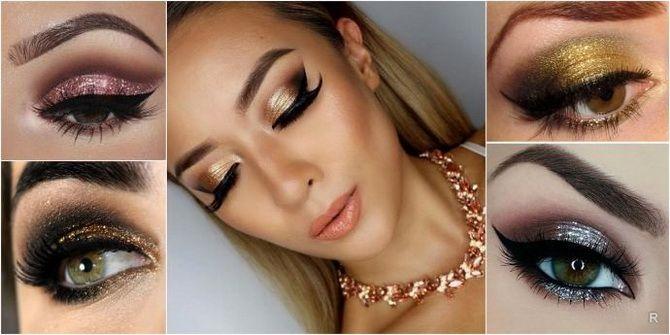 Brillantes Augen-Make-up