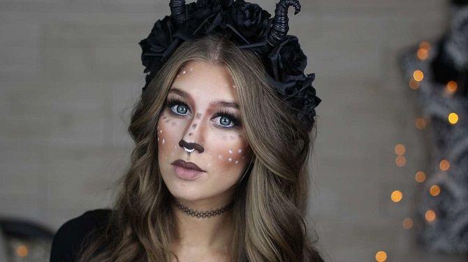 макияж оленя