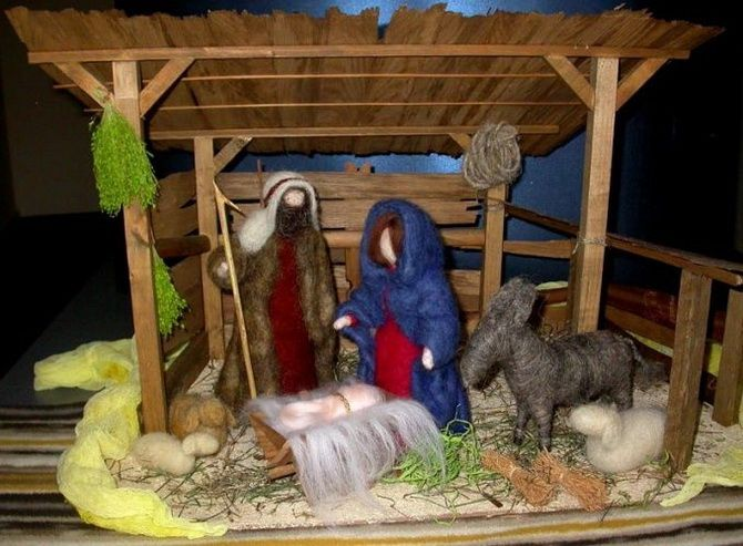 рождественский вертеп фото