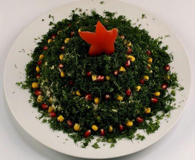 Салат Елочка со звездой