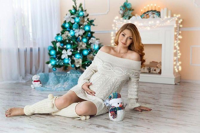 образи для новорічної фотосесії вагітної