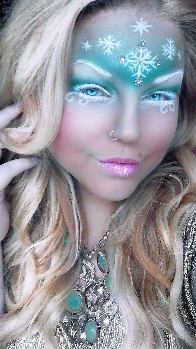 необычный макияж новый год