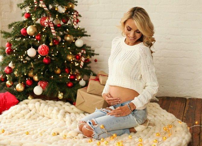 образи для новорічної фотосесії для вагітних