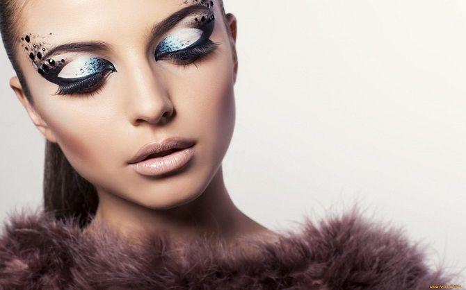 модный макияж на новый год 2020