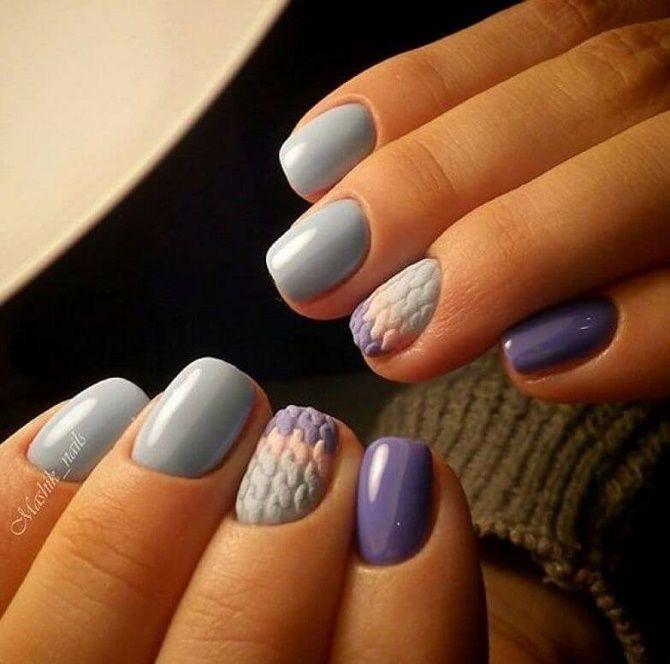 вязание на ногтях