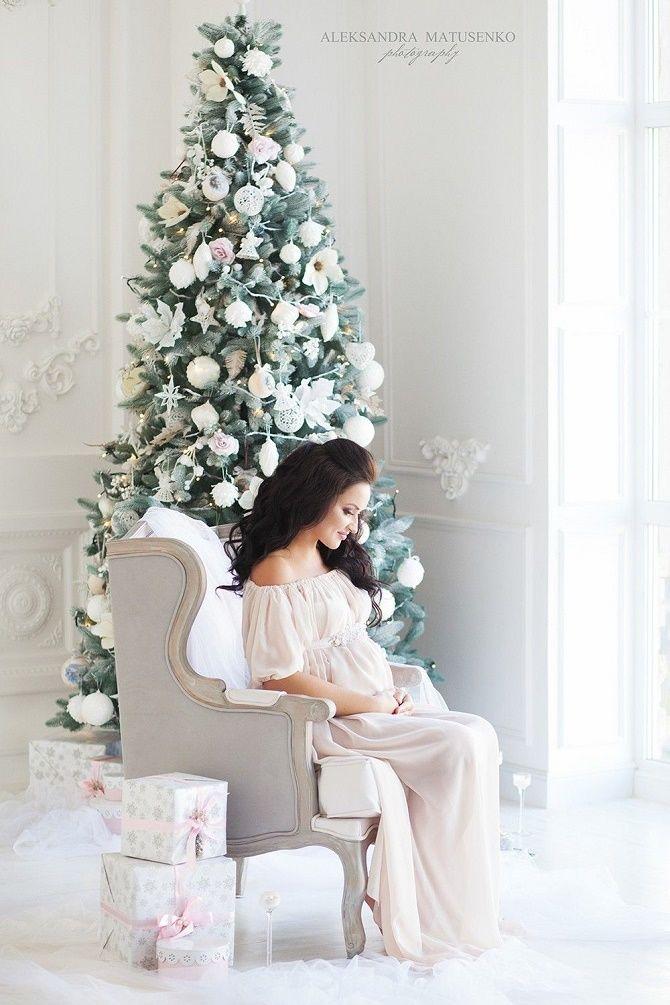фотосессия беременных на новый год