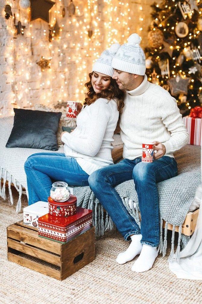 образи для новорічної фотосесії вагітної з чоловіком