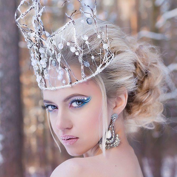 макіяж на новий рік снігова королева