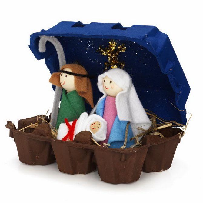 поделка рождественский вертеп своими руками