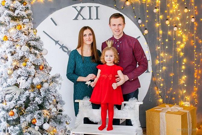 сімейні образи для новорічної фотосесії