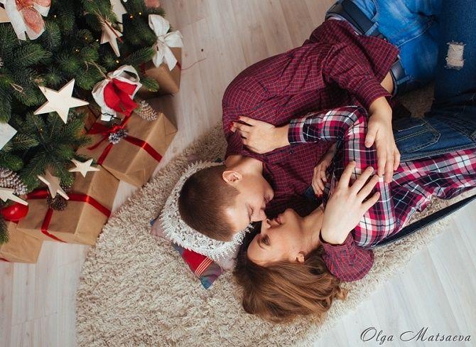 новогодняя фотосессия влюбленных
