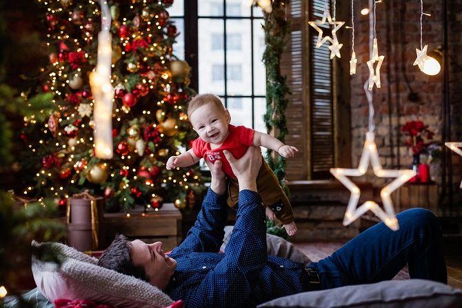 образи для новорічної фотосесії папа та син