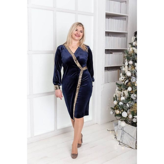 платья для полных на новый год 2020
