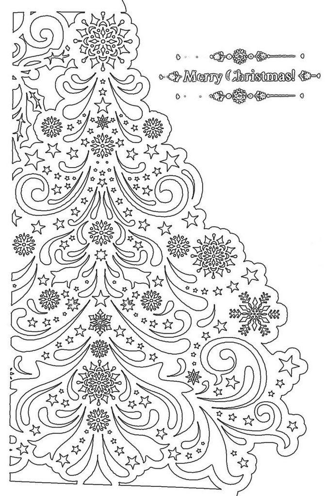 вытынанка елка