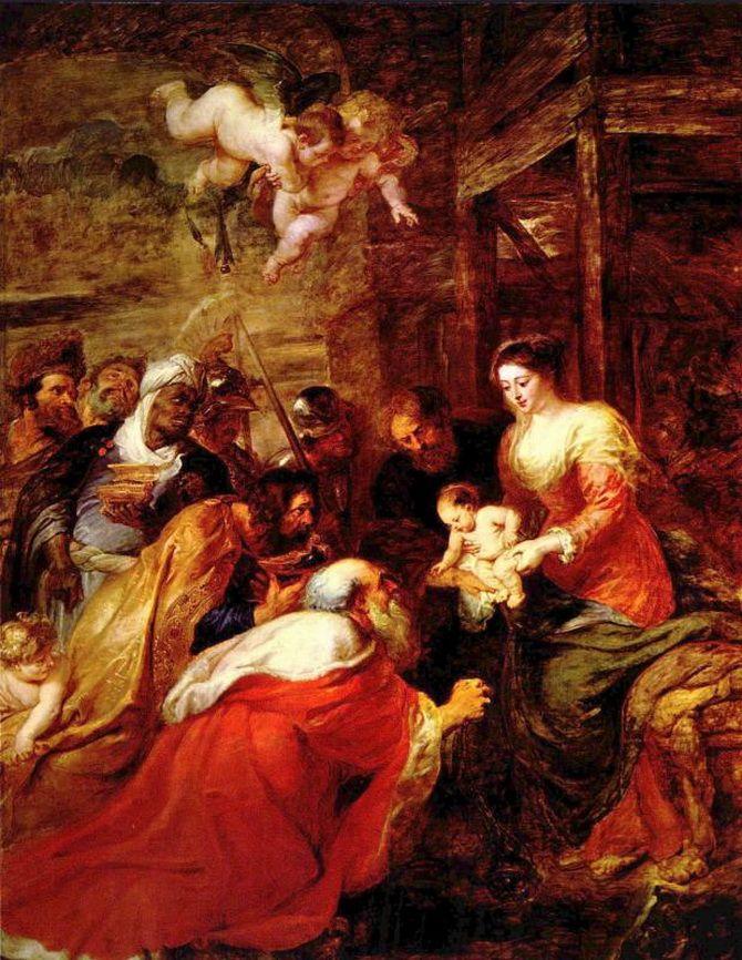 картина Леонардо да Винчи «Поклонение волхвов