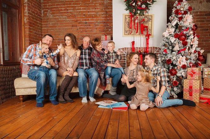 семейные образы для новогодней фотосессии 2020